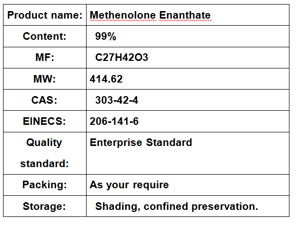 Methenolone Enanthate Bodybuilding Primobolan Enanthate 100mg/ml Cas 303-42-4