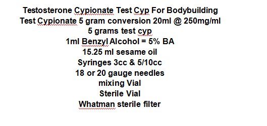 Health Muscle Growth Steroids Testosterone Cypionate Cas 58-20-8 / Weight Loss Steroids
