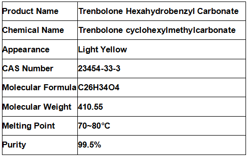 Trenbolone Hex / Parabolan Trenbolone Powder For Bodybuilders Cas 23454-33-3