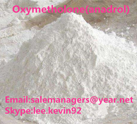 China White Raw Steroid Powders CAS434-07-1 Oxymetholone Anadrol For Muscle Gain supplier