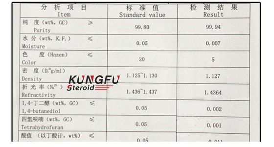 99.9% 1,4-Butanediol 110-63-4 Bdo Solvent For Pharmaceutical Research
