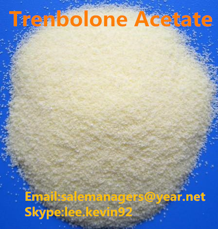 Yellow Trenbolone Acetate Powder Steroid For Fitness CAS 10161-34-9